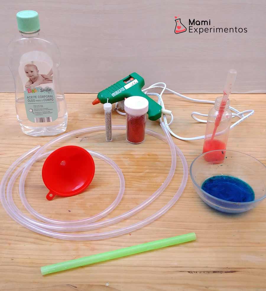 Materiales necesarios para hacer tubos de descubrimiento sensoriales
