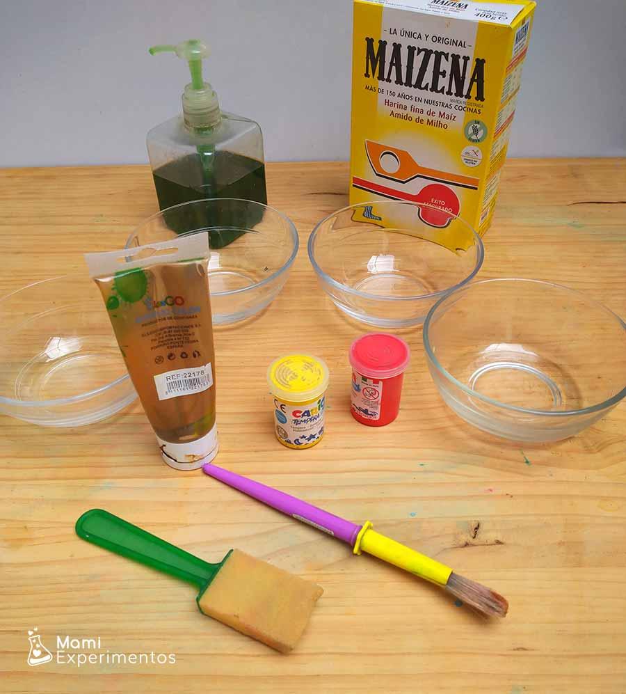 Materiales necesarios pintura en ventanas de otoño