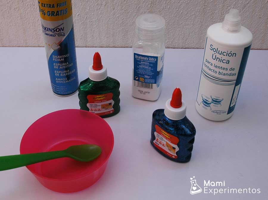 Materiales necesarios slime especial frozen