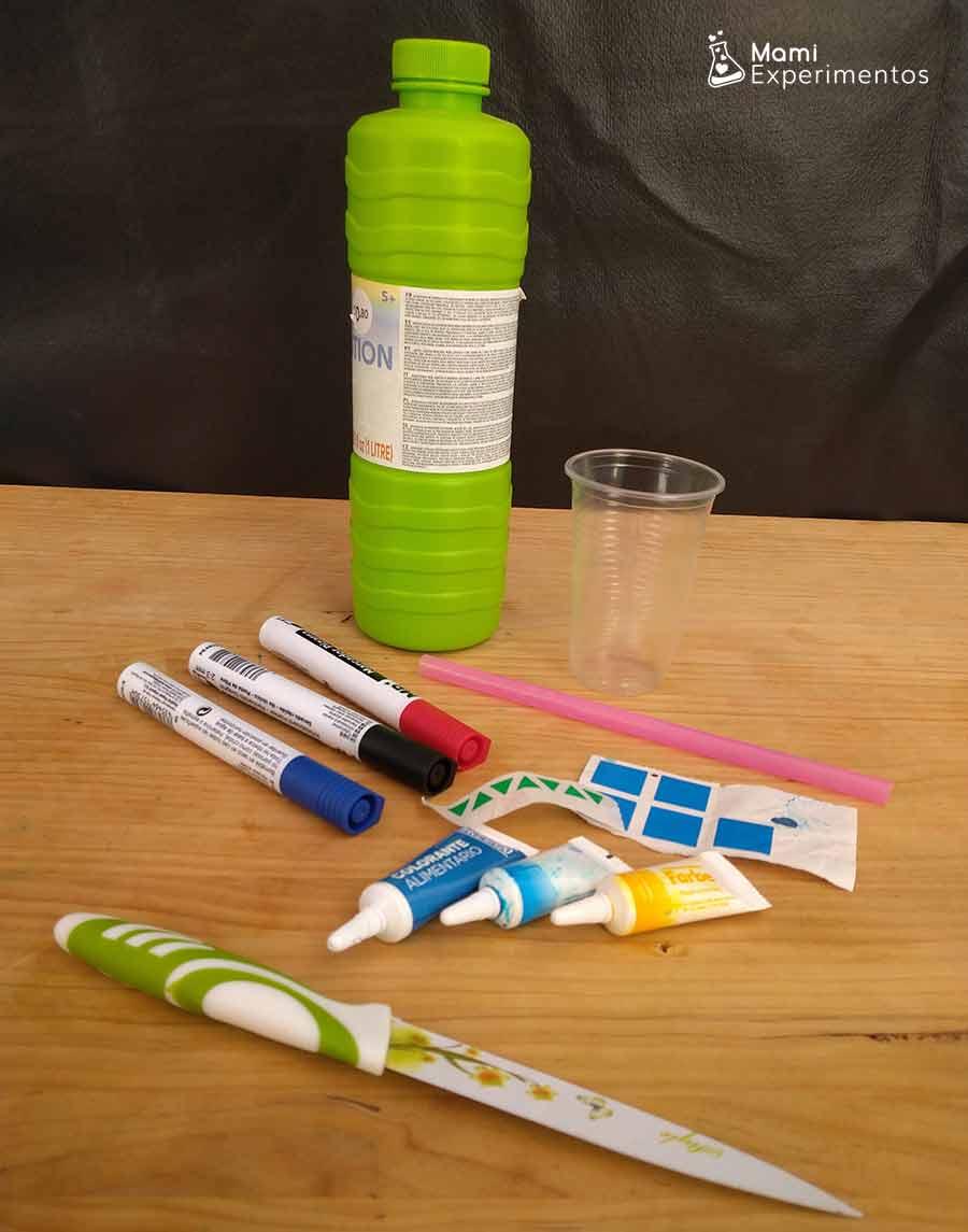 Materiales necesarios para hacer un soplador de pompas casero