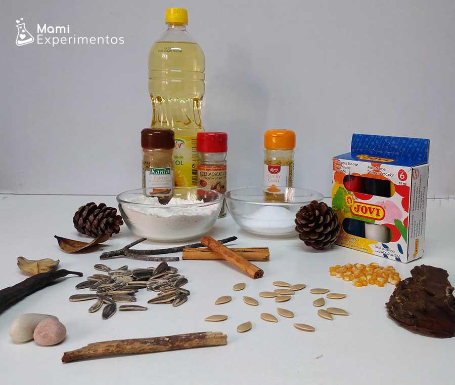 Materiales necesarios para hacer plastilina casera perfumada de otoño