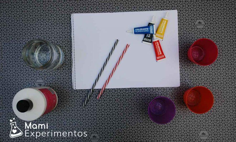 Materiales necesarios para pintar con burbujas