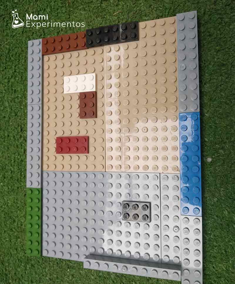 Montando los bordes para laberinto de lego