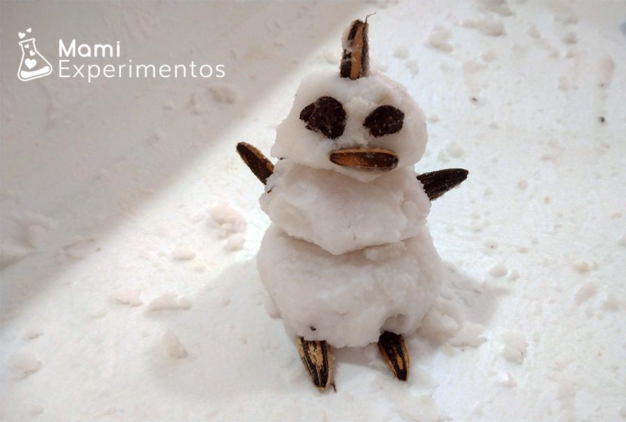Muñeco de nieve y semillas taller navidad