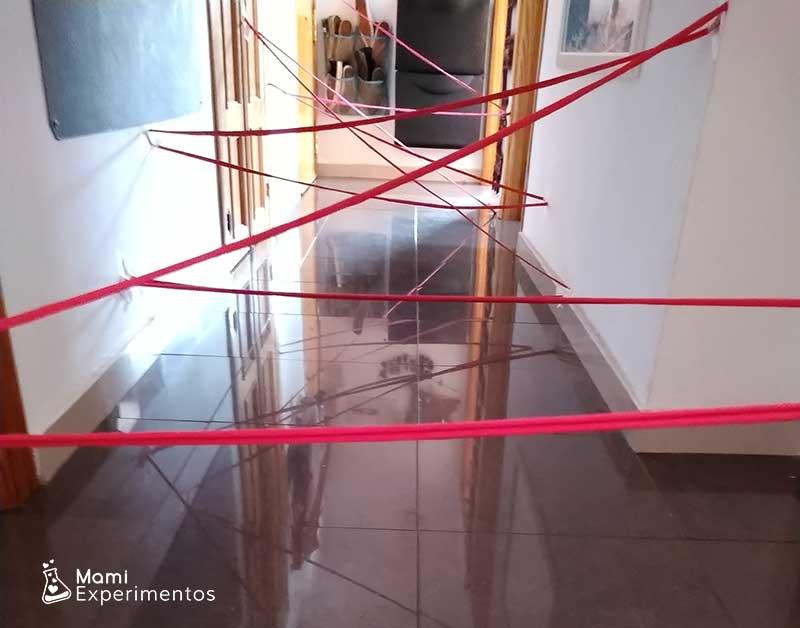 Pasillo preparado circuito de tela de araña