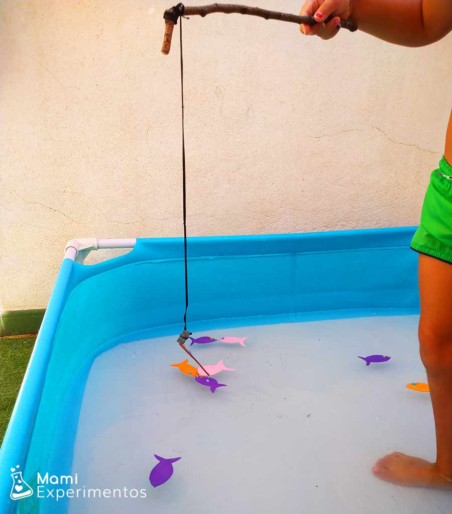 Pescando peces con imanes