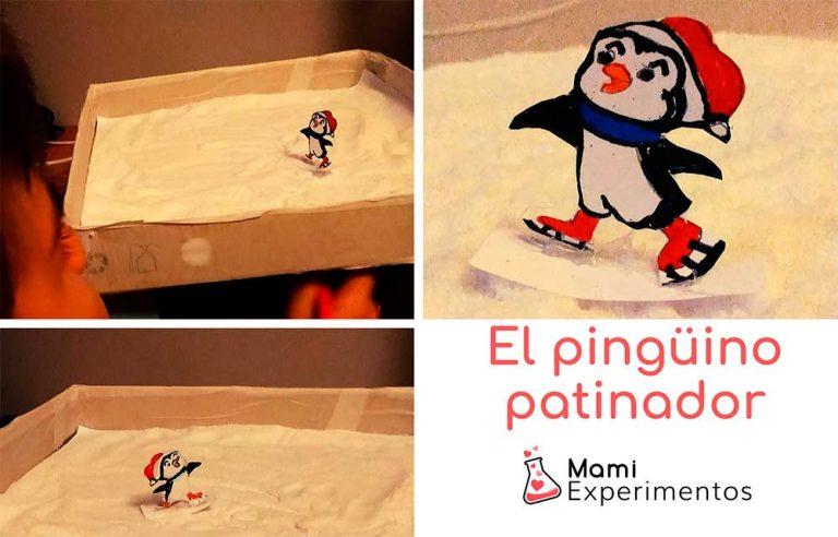 El pingüino patinador con imanes