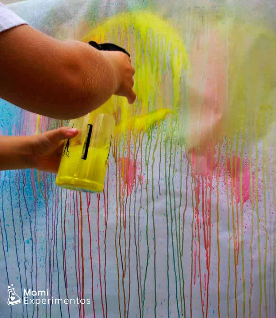 Pintando con pulverizadores