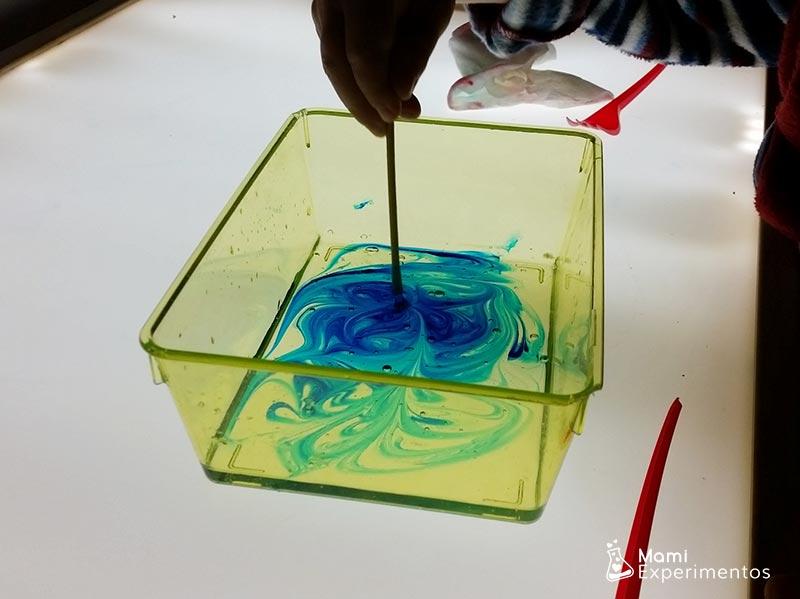 pintar con gel en mesa de luz