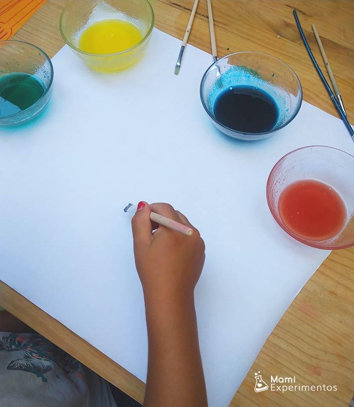 PIntar con pintura de gelatina