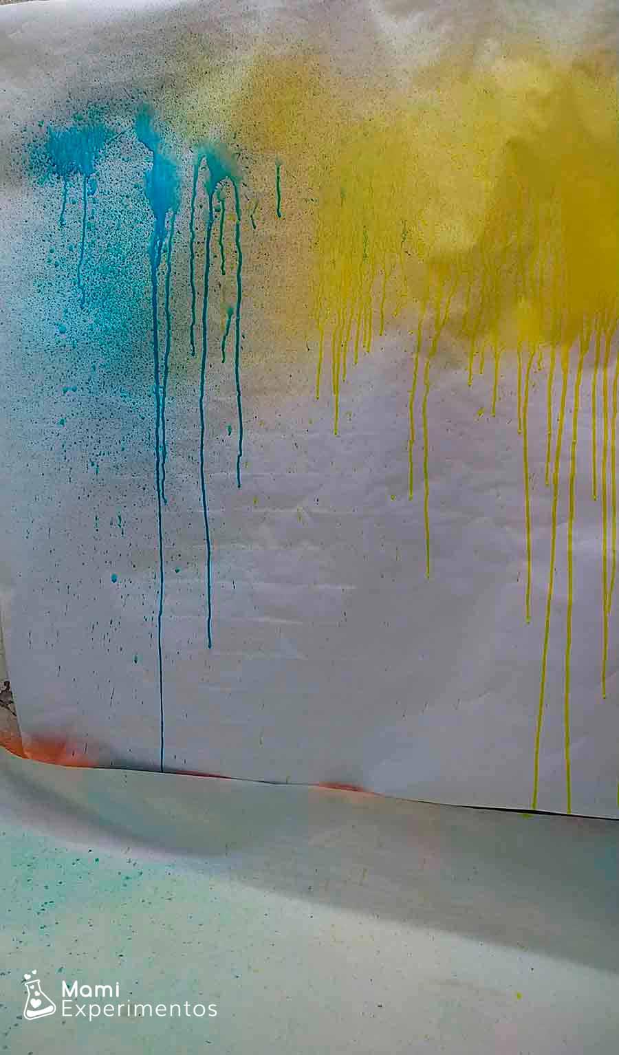 PIntar mural con pulverizadores