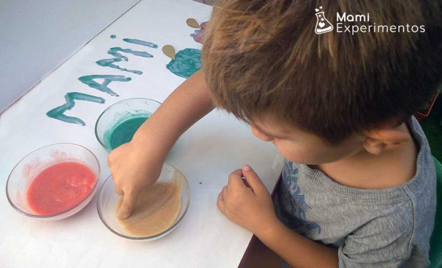 pintura casera de manzana