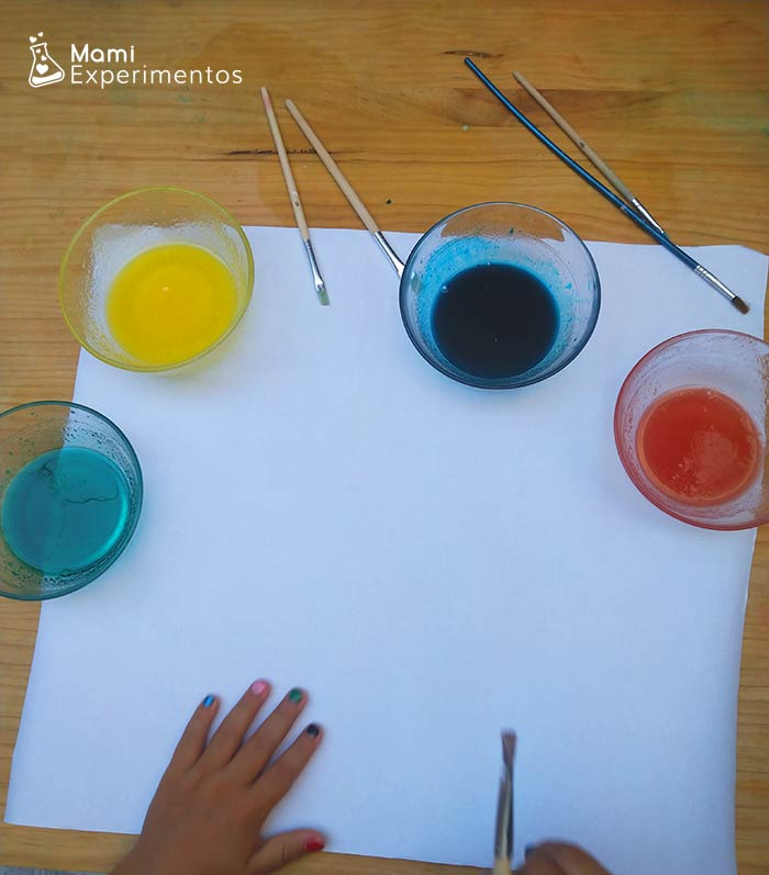 Pintura de gelatina preparada