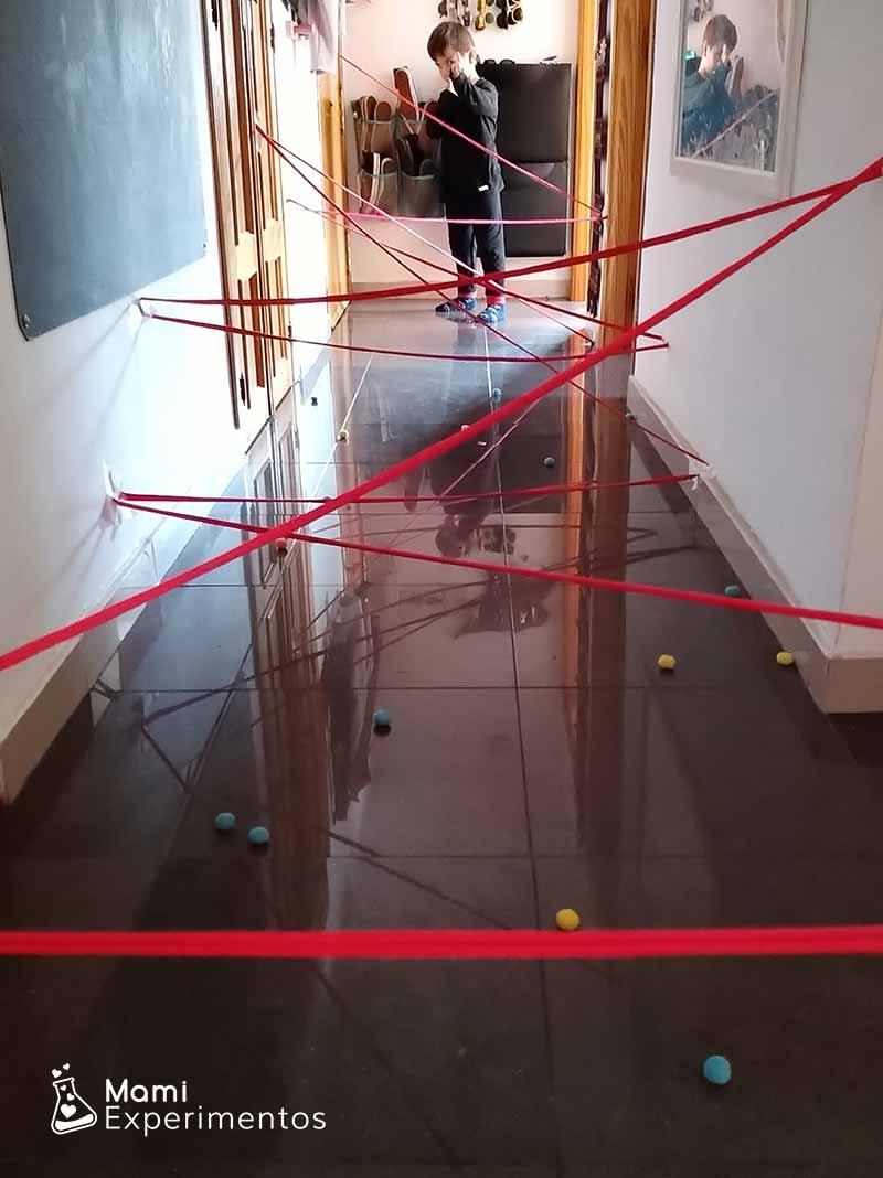 Preparado parael circuito en el pasillo