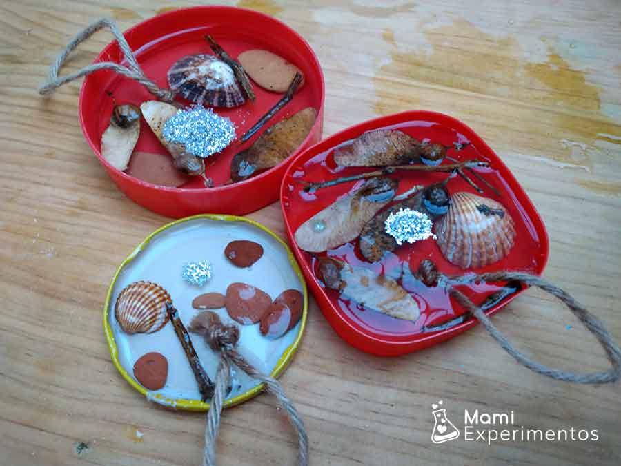 Adornos de navidad con materias naturales