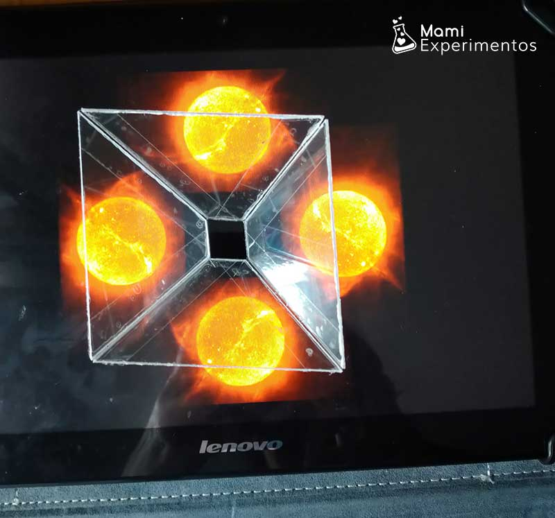 Preparando holograma casero