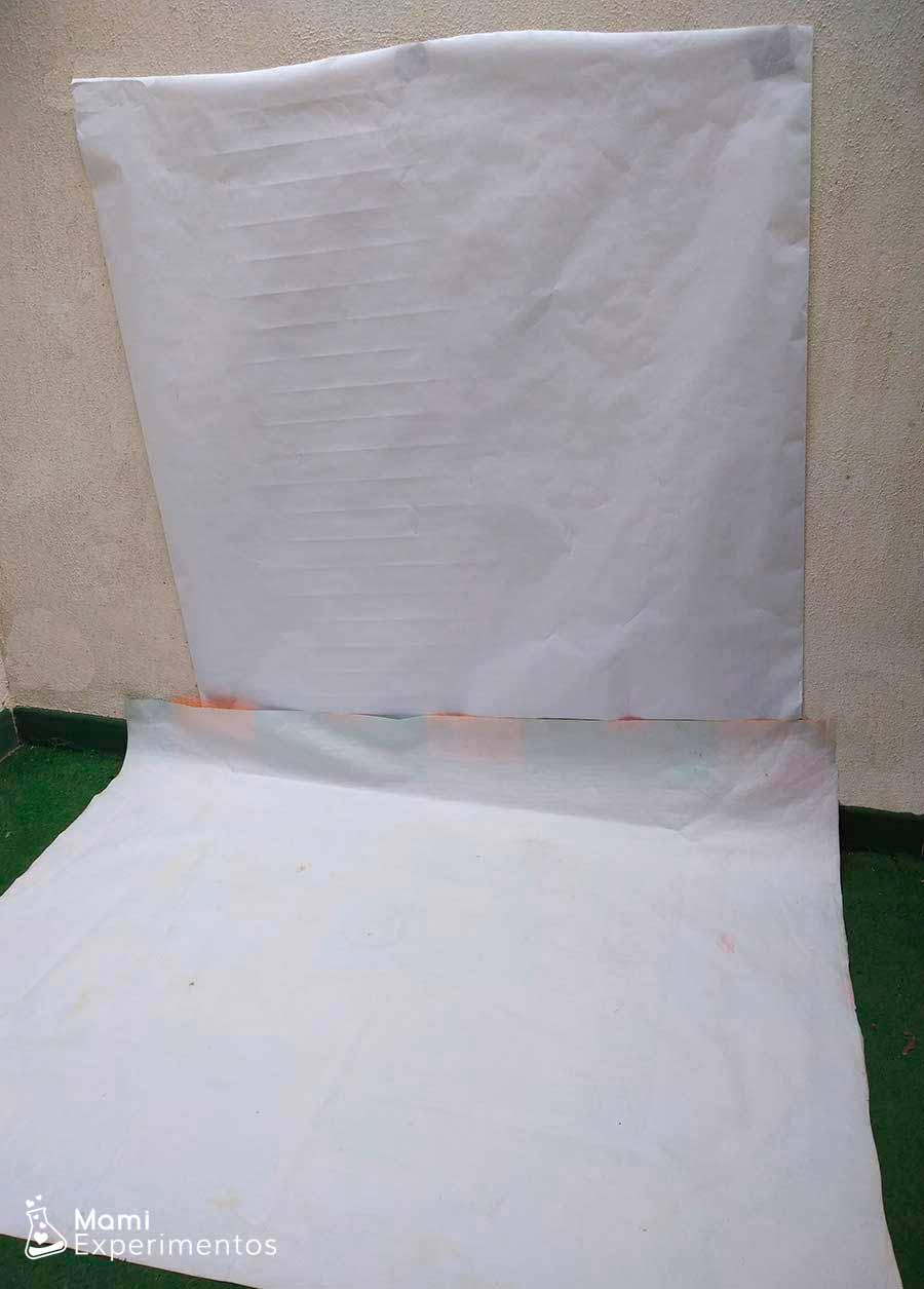 Preparando lienzo para pintura con pulverizadores