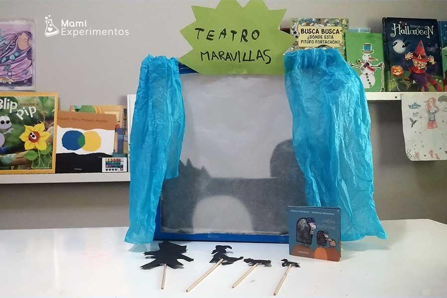 Preparar un teatro de sombras con el cuento chivos chivones especial día del libro