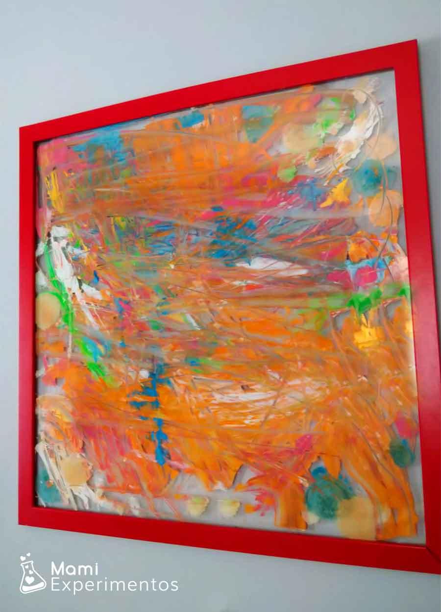 Regalo día del padre cuadro abstracto en la pared