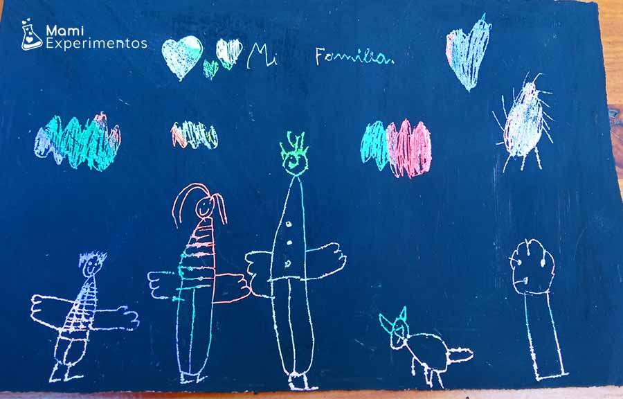Resultado creación artística rayado en el día de las familias