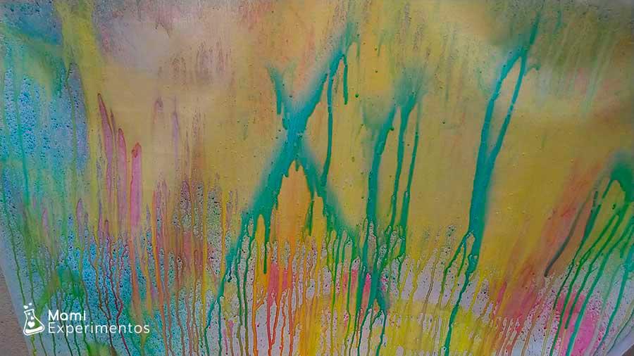 Resultado mural pintado con pulverizadores