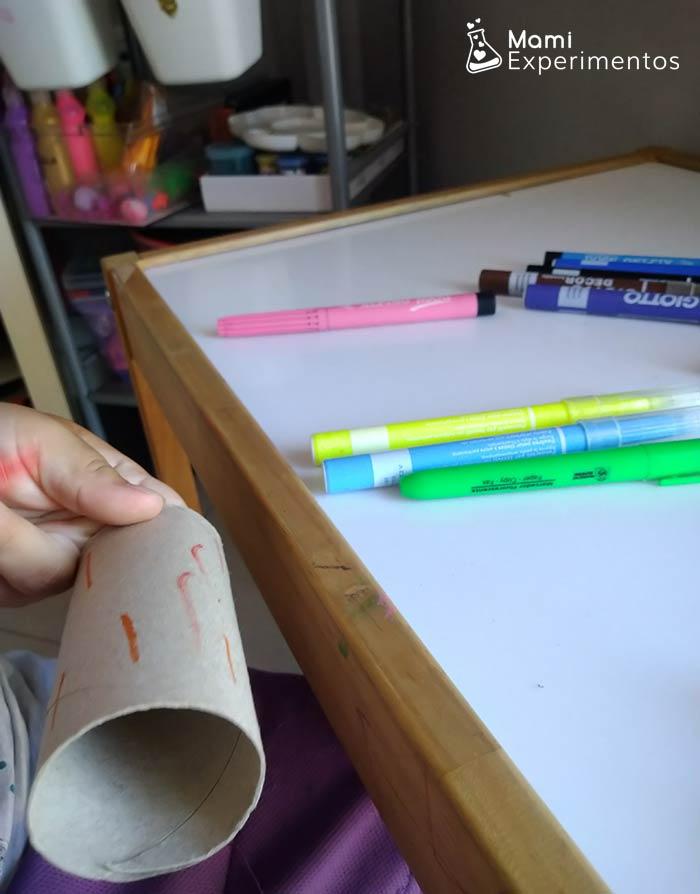 rollo papel higienico decorado para lanzador de pompones