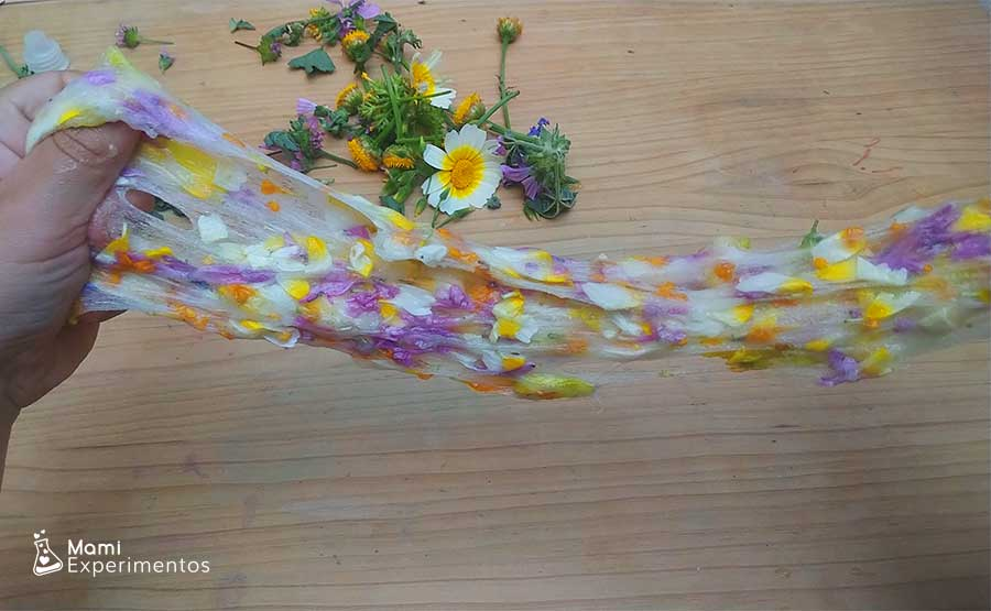 Slime de flores reales flower power