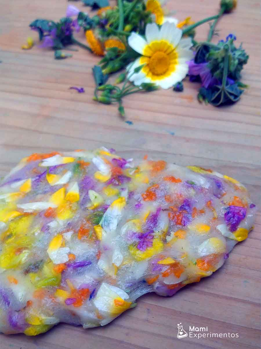 Slime de pétalos de flores flower power