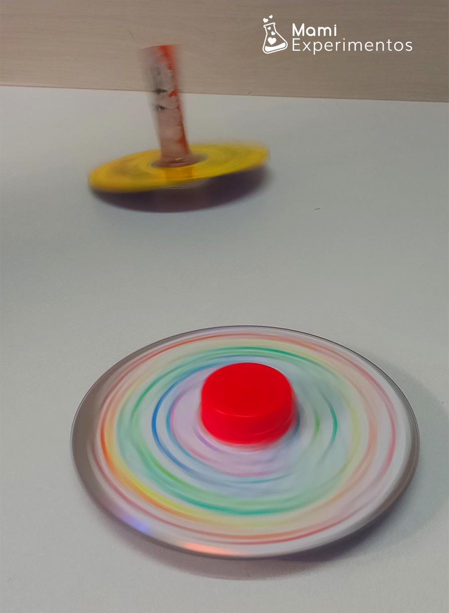 Spinners caseros en movimiento