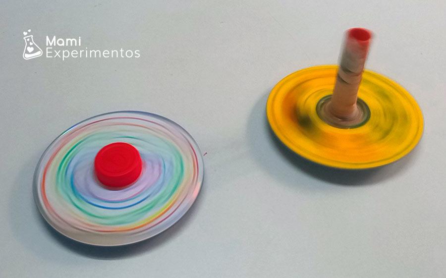 Spinner con un cd rodando de dos formas diferentes