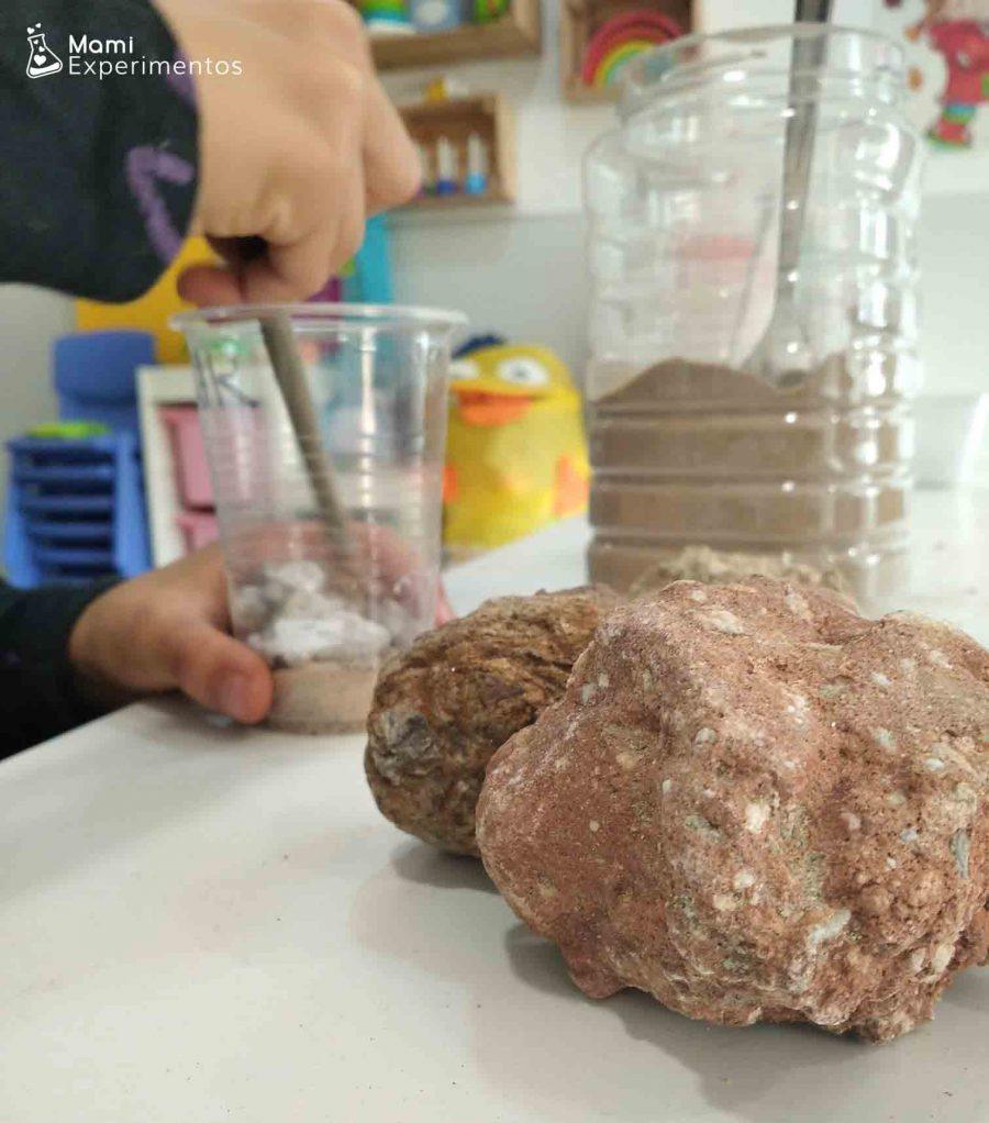Taller geología preparo mi propia roca