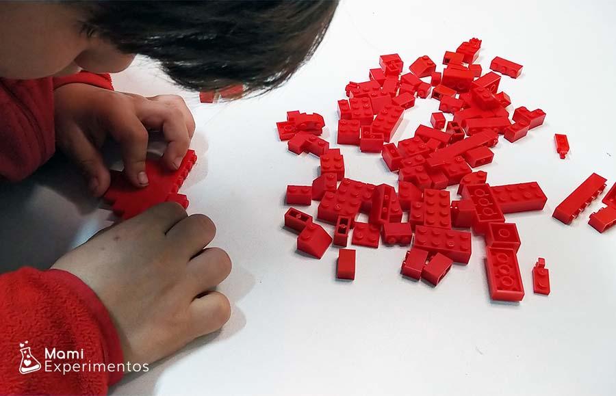 Trabajar matemáticas con piezas lego